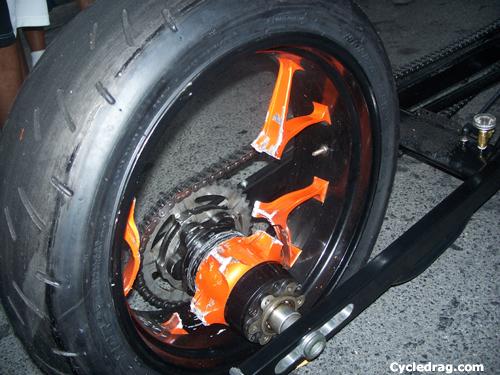 Dragbike Wheel Shatters Off The Line Dragbike News