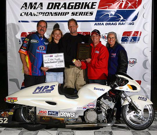 Dan Rudd AMA Dragbike Winner