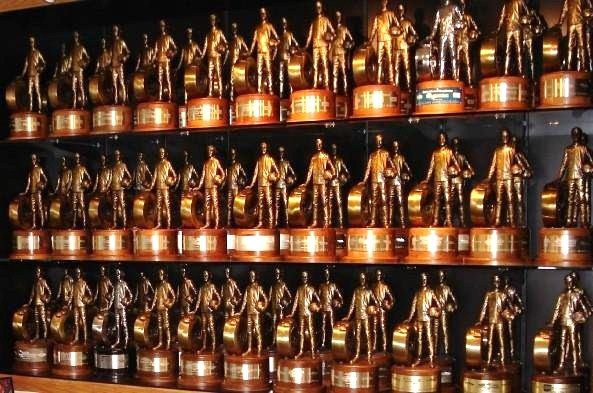 Image result for nhra wally trophies on wall