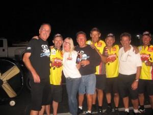 Larry McBride Peter Svensson Pingel Top Fuel Celebration