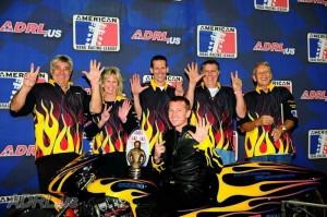 Eric McKinney, Scott McKinney, Steve Drake ADRL Champion
