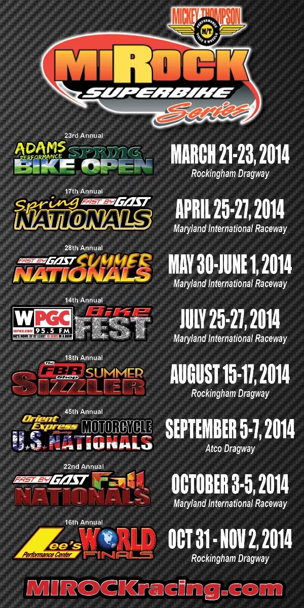 2014 MIROCK Schedule