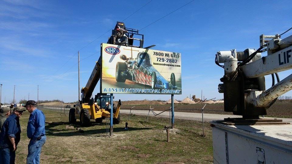 Kansas International Dragway Sign