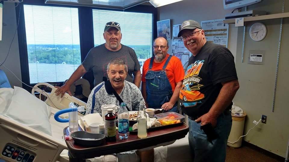 Larry Brancaccio, Dan Driscoll and the Alvin Kobernusz Nitro Harley team.