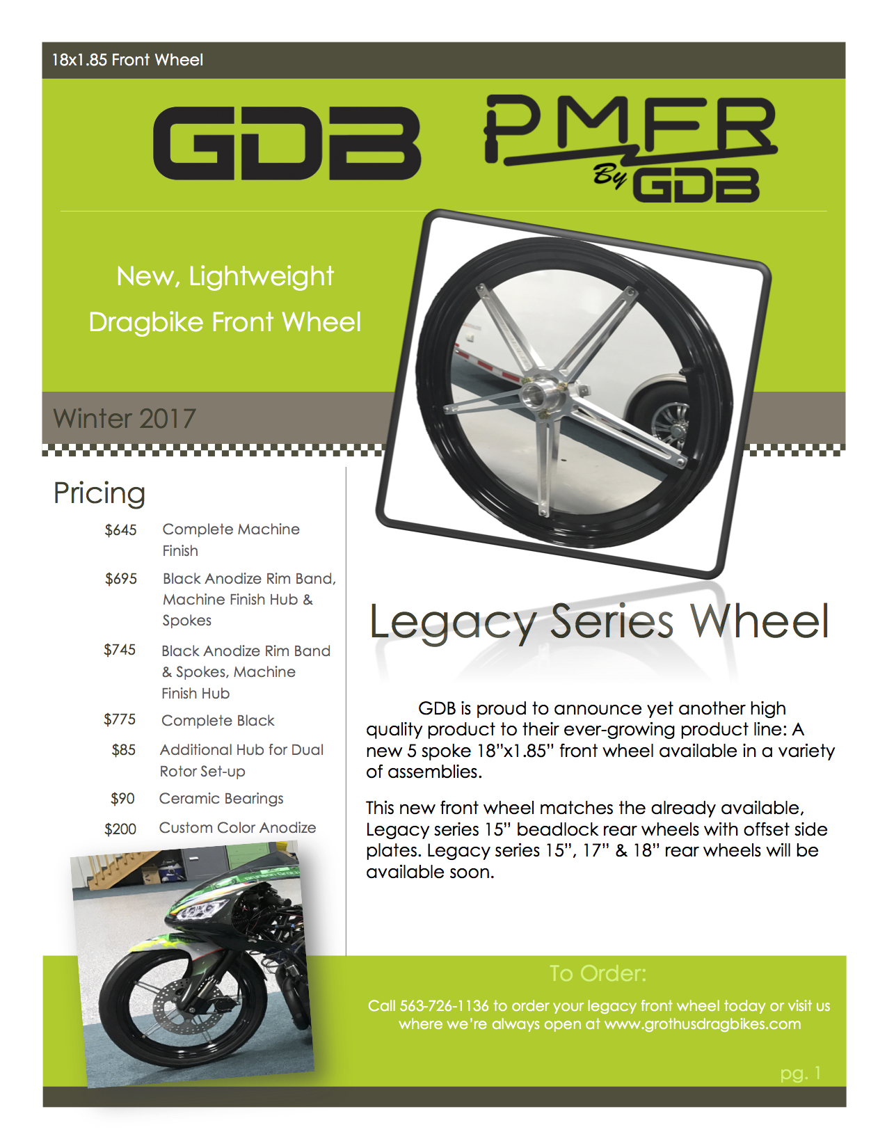 Grothus Dragbikes Legacy Series Front Wheel Dragbike News
