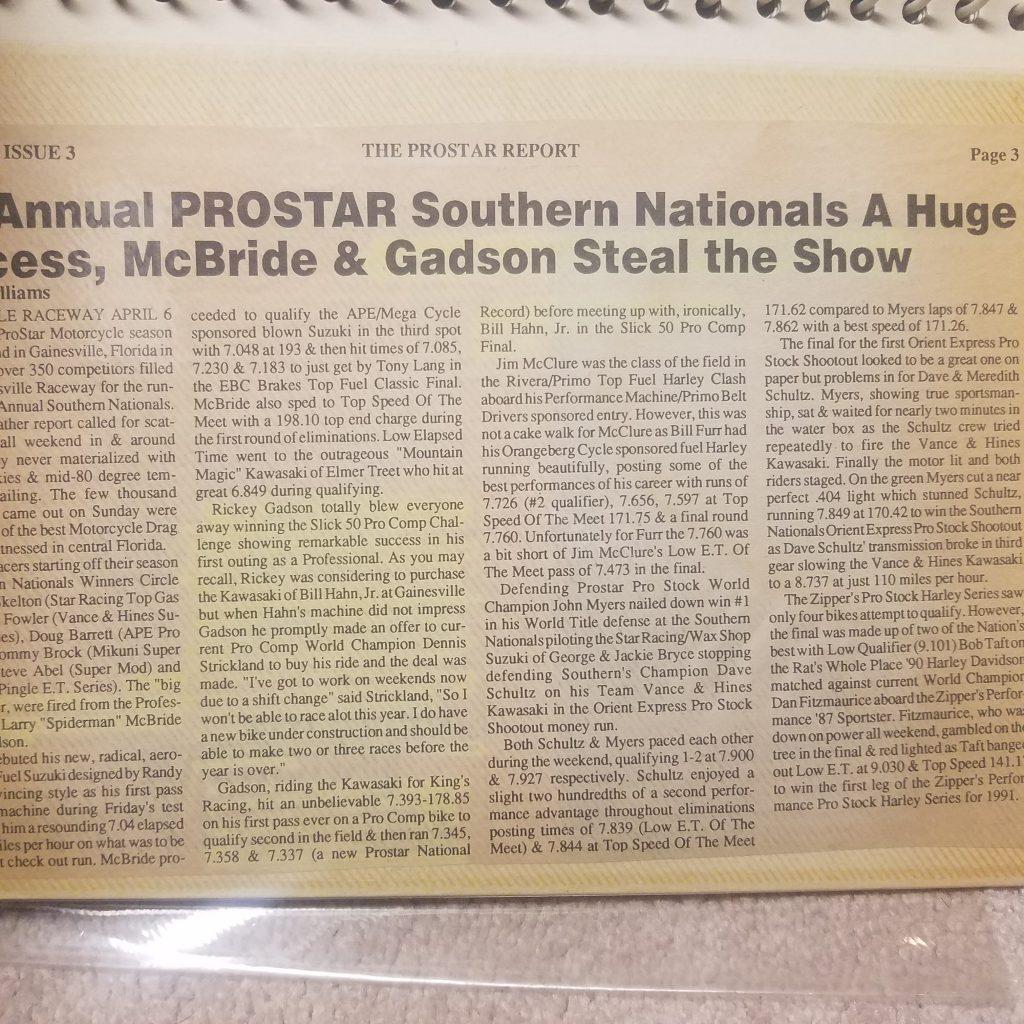 Rickey Gadson newspaper article