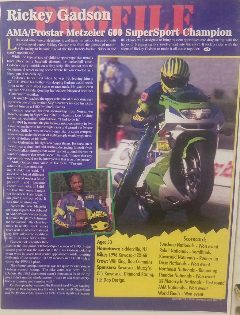 Rickey Gadson 600 Supersport
