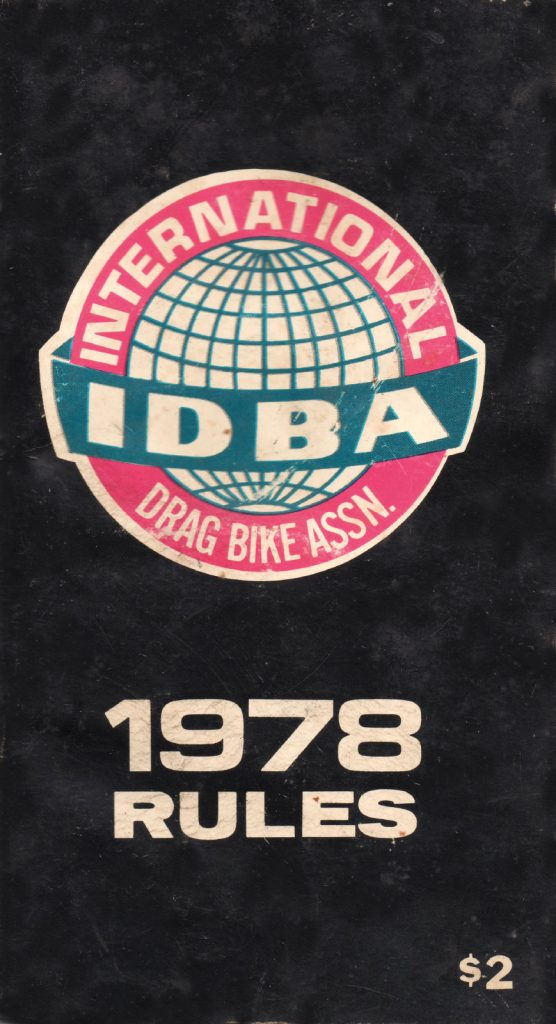 IDBA Dragbike Racing Rulebook