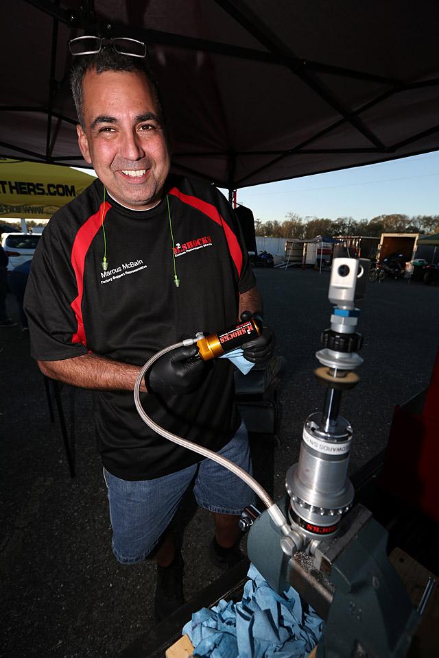 M2.shocks' Marcus McBain built custom shocks onsite