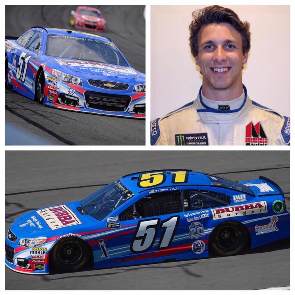 Josh Bilicki and his No. 51 NASCAR ride