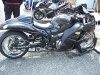 black and chrome Hayabusa