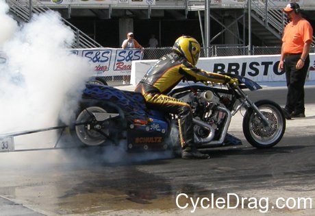 Andy Baumbach Harley Burnout