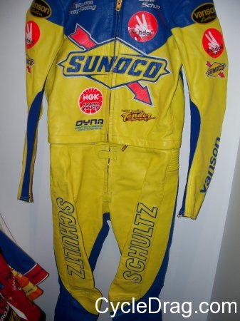 Dave Schultz Pro Stock Motorcycle Leathers