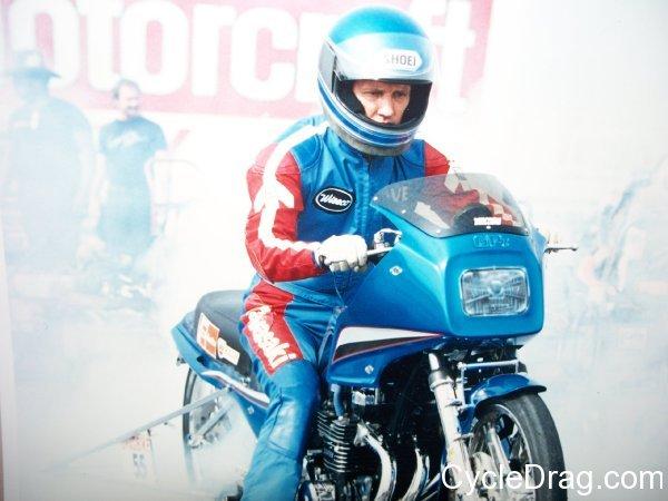 Dave Schultz Blue Pro Stock Motorcycle
