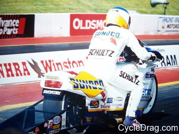 Dave Schultz Sunoco Pro Stock Motorcycle