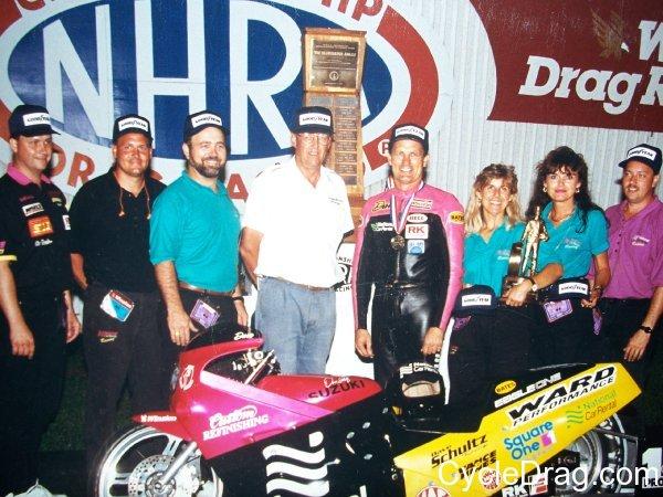 Dave Schultz Pro Stock Motorcycle Winner