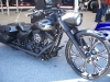 Black and Grey Harley Davidson Road King