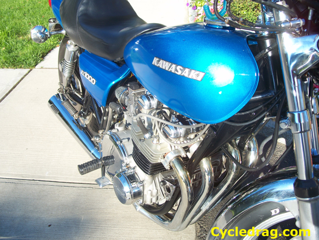 1977 KZ 1000 Motor Cleaned Up