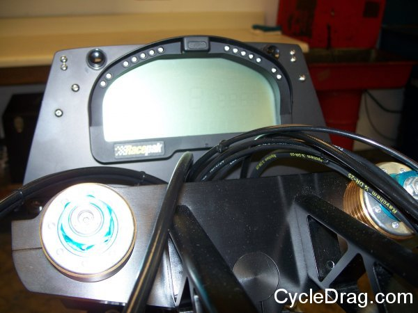 Larry McBride Top Fuel Motorcycle RPM Gauge