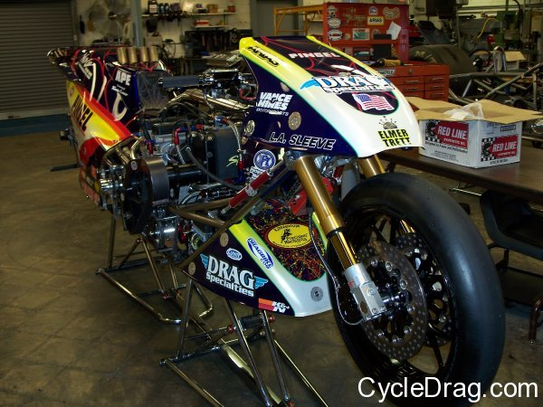 Larry Spiderman McBride Motorcycle