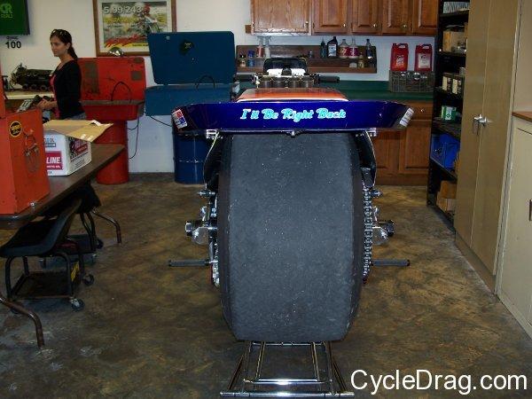 Larry Spiderman McBride Motorcycle Slick