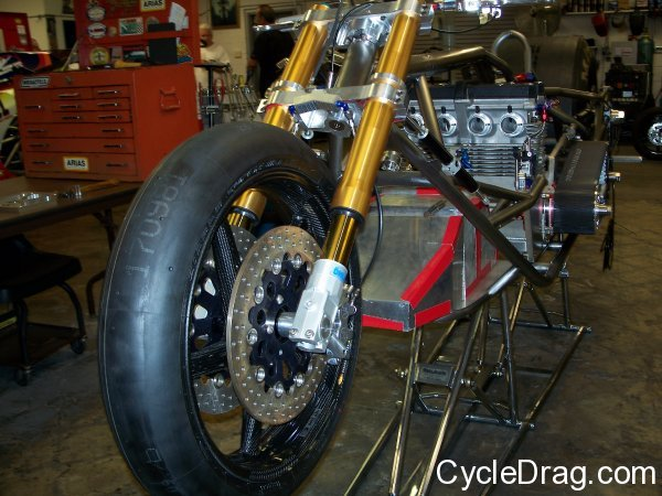 Top Fuel Dragbike Front End