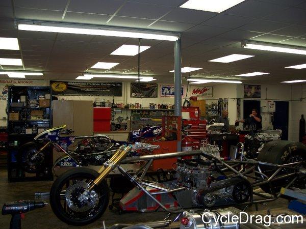 Larry Spiderman McBride Top fuel Motorcycles