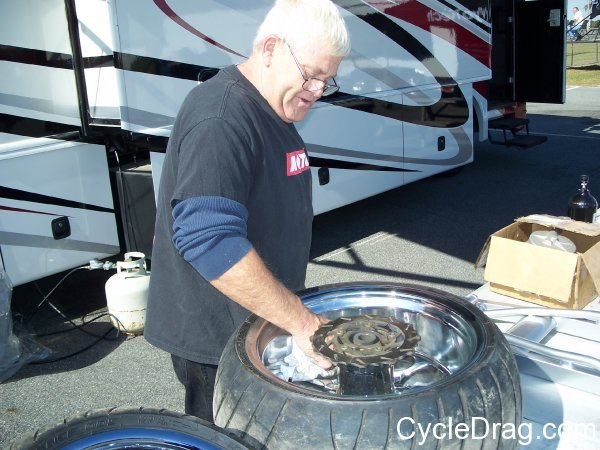 Ron Fish Fish's Customs Dragbike Tires