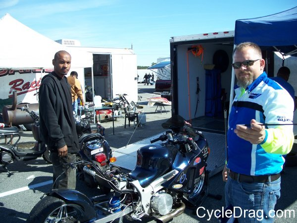 Motorcycle drag Racing Pits