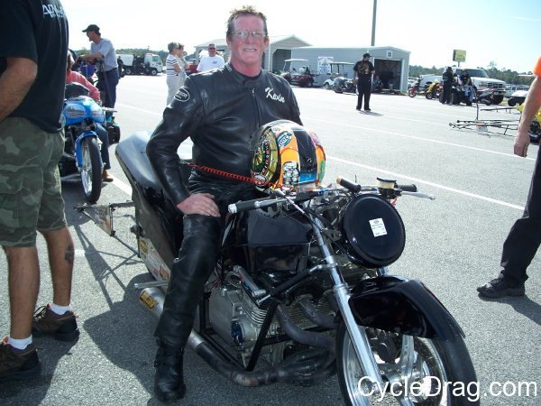 Black Suzuki Drag Bike