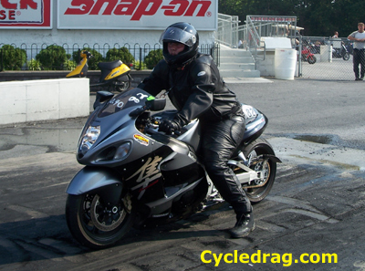 Black and Silver Suzuki Hayabusa