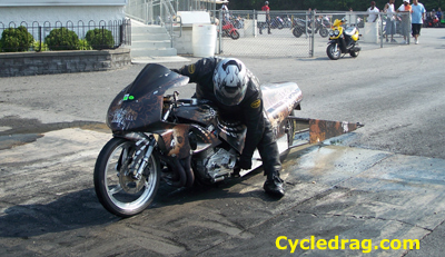 Custom painted dragbike