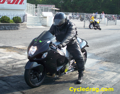 All Black Hayabusa Grudge Bike