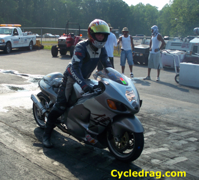 Grey and Black Suzuki Hayabusa