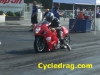Red hayabusa no-bar dragbike