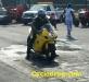 Yellow Suzuki Grudge Bike