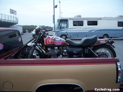 Old school Kawasaki KZ No Wheelie Bar