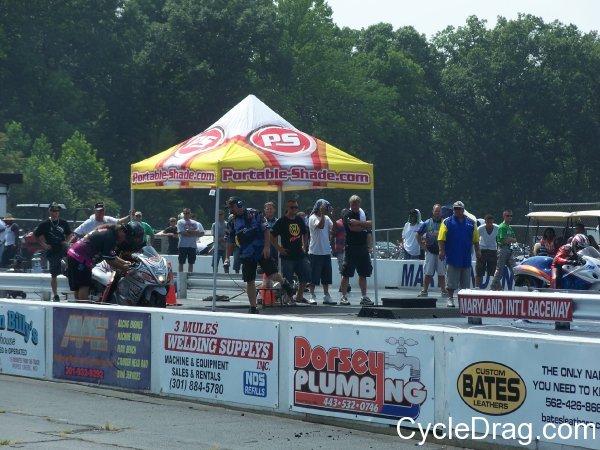 Portable Shade Drag Bike Racing