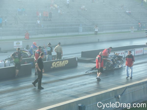 Top Fuel Motorcycle Larry McBride Korry Hogan