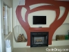 Drywall Art Fire Place