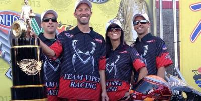 John Hall, Matt Smith, Angie Smith, Scotty Pollacheck Pro Stock Motorcycle