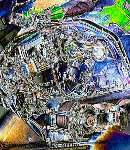 Top Fuel Harley Motor Art