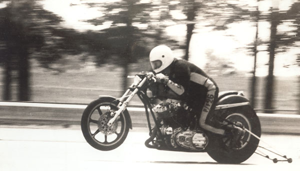 The First Funny Bike And First Wheelie Bar In Motorcycle Drag