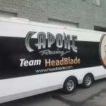 Team Headblade Dragbike Racing Trailer