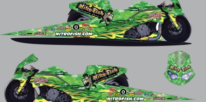 John Hall Nitro Fish Pro Stock Motorcycle