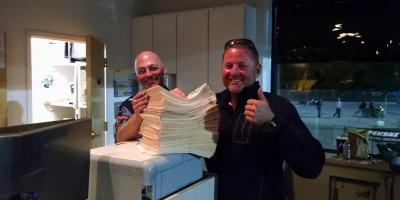 MIR's Jason Miller and Chris Miller count entries
