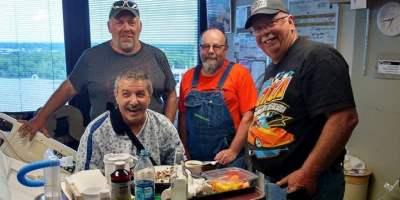 Larry Brancaccio, Dan Driscoll and the Kobernusz Nitro Harley team.