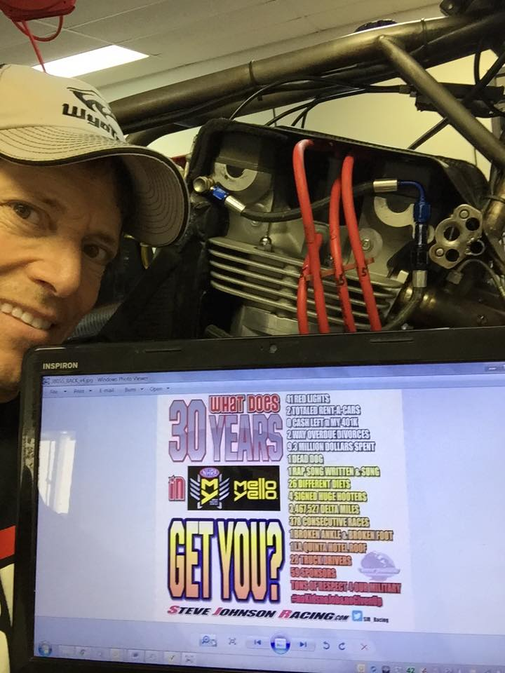 Steve Johnson 30 year of NHRA Pro Stock Motorcycle