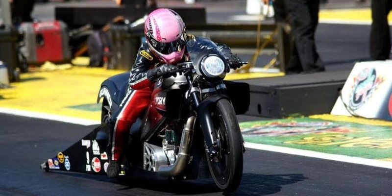 Angie Smith Pro Stock Motorcycle