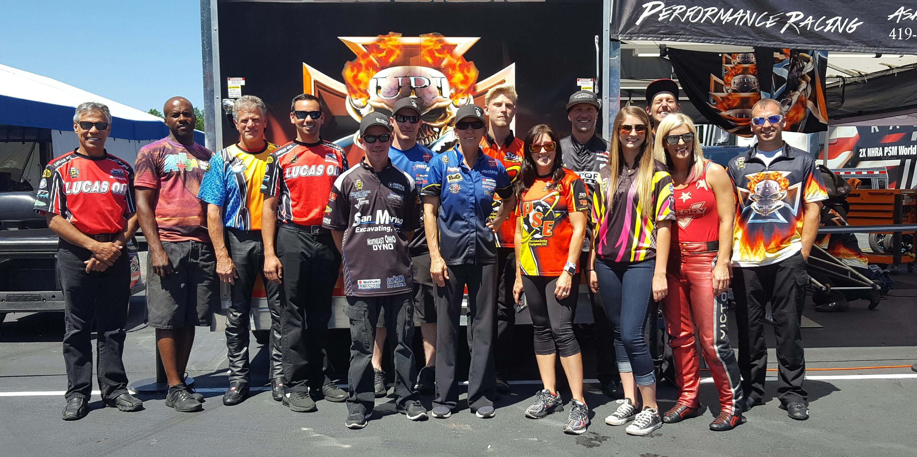 NHRA Pro Stock Motorcycle Pits